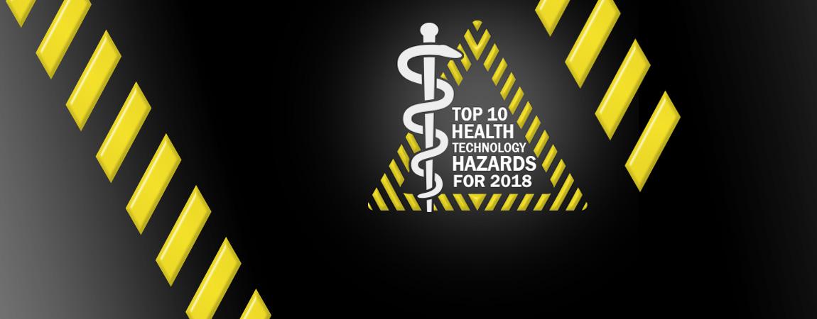 Top 10 Riesgos de Tecnología médica para el 2018